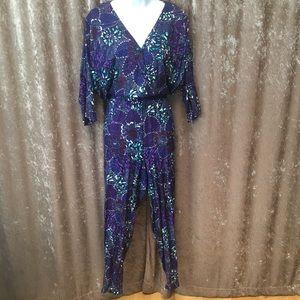 EUC Vintage Multi colored, patterned jumpsuit
